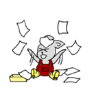 灰色兎の日常生活(個別スタンプ:31)