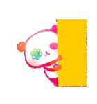 花パンダ(個別スタンプ:01)