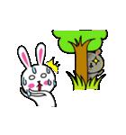 うさ子 with くまごろう(個別スタンプ:9)