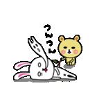 うさ子 with くまごろう(個別スタンプ:11)