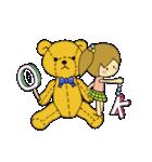 クマさんと女の子でホッと一息!!!(個別スタンプ:02)