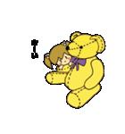 クマさんと女の子でホッと一息!!!(個別スタンプ:03)