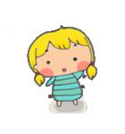 little cute worm girl(個別スタンプ:01)
