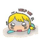 little cute worm girl(個別スタンプ:03)