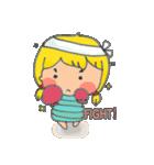 little cute worm girl(個別スタンプ:05)