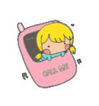 little cute worm girl(個別スタンプ:06)