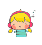 little cute worm girl(個別スタンプ:09)