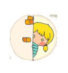 little cute worm girl(個別スタンプ:10)