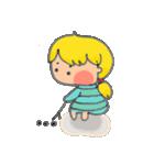 little cute worm girl(個別スタンプ:11)