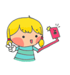 little cute worm girl(個別スタンプ:12)