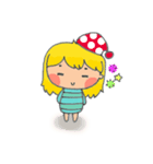 little cute worm girl(個別スタンプ:13)