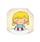 little cute worm girl(個別スタンプ:14)