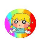 little cute worm girl(個別スタンプ:16)