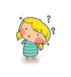 little cute worm girl(個別スタンプ:17)