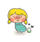 little cute worm girl(個別スタンプ:18)