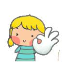 little cute worm girl(個別スタンプ:19)