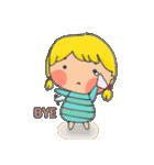 little cute worm girl(個別スタンプ:20)