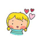 little cute worm girl(個別スタンプ:21)