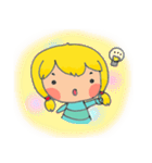 little cute worm girl(個別スタンプ:25)