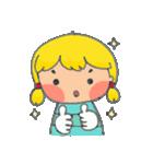 little cute worm girl(個別スタンプ:27)