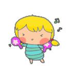 little cute worm girl(個別スタンプ:28)