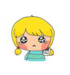 little cute worm girl(個別スタンプ:29)