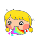 little cute worm girl(個別スタンプ:30)