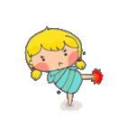 little cute worm girl(個別スタンプ:32)