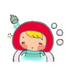 little cute worm girl(個別スタンプ:33)
