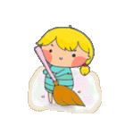little cute worm girl(個別スタンプ:34)