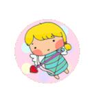 little cute worm girl(個別スタンプ:35)