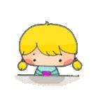 little cute worm girl(個別スタンプ:36)