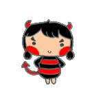 little cute worm girl(個別スタンプ:38)