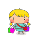 little cute worm girl(個別スタンプ:39)