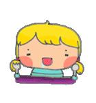little cute worm girl(個別スタンプ:40)