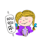 Teenage girl(個別スタンプ:33)
