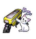 かわいいネコと原付スクーター(個別スタンプ:06)
