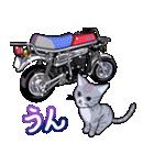 かわいいネコと原付スクーター(個別スタンプ:08)