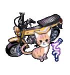 かわいいネコと原付スクーター(個別スタンプ:11)