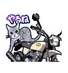 かわいいネコと原付スクーター(個別スタンプ:12)