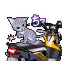 かわいいネコと原付スクーター(個別スタンプ:36)