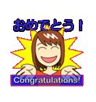 Easy英会話スタンプ by Mirai-chan 2(個別スタンプ:01)