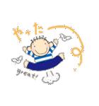 ボーダーかっちゃんと小鳥2(個別スタンプ:6)