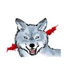 孤高の狼(文字なし版)(個別スタンプ:40)