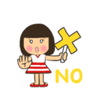 ボブ・前髪パッツン 時々タヌキ(個別スタンプ:06)