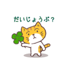猫と四つ葉のクローバー(個別スタンプ:01)