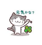 猫と四つ葉のクローバー(個別スタンプ:03)