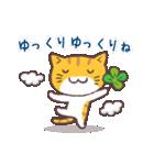 猫と四つ葉のクローバー(個別スタンプ:12)