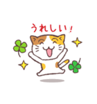 猫と四つ葉のクローバー(個別スタンプ:21)