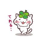 猫と四つ葉のクローバー(個別スタンプ:28)